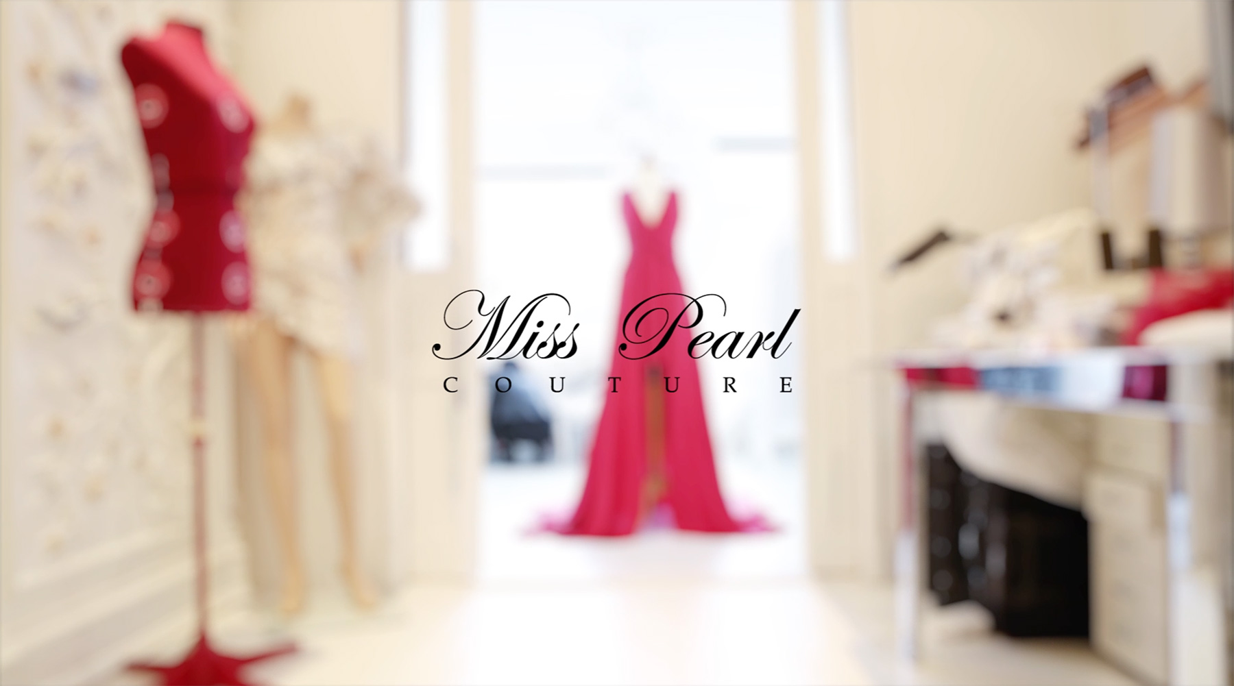 Making of the Red Dress - Miss Pearl Couture