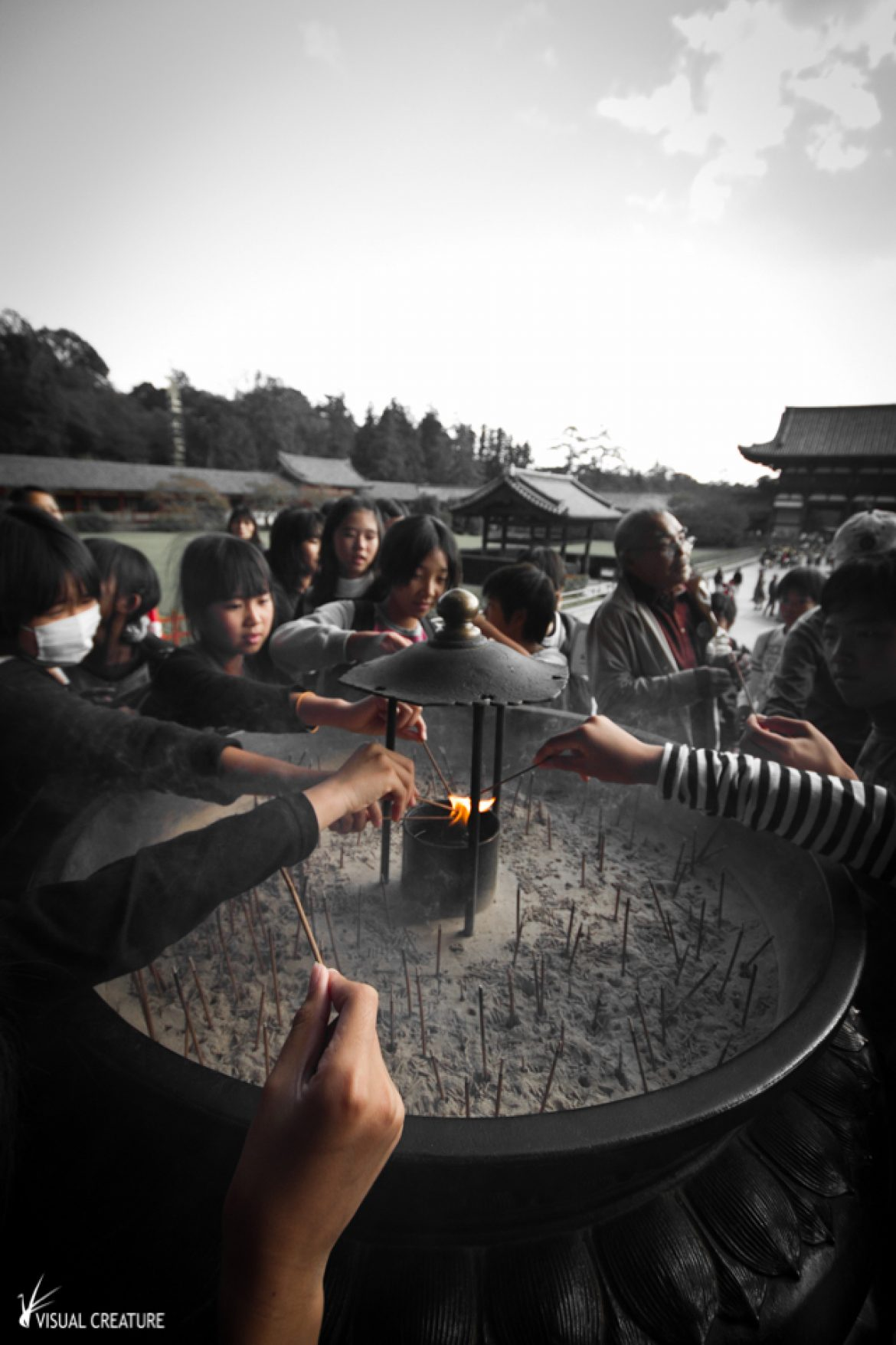 Japan Revisited: Lighting incense sticks at the Tōdaiji Temple