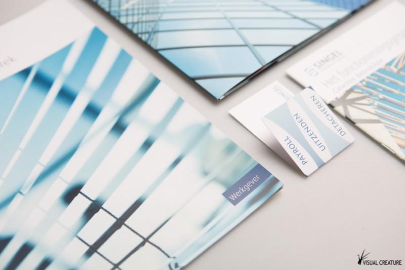 Singel Personele Diensten: Brochure set design
