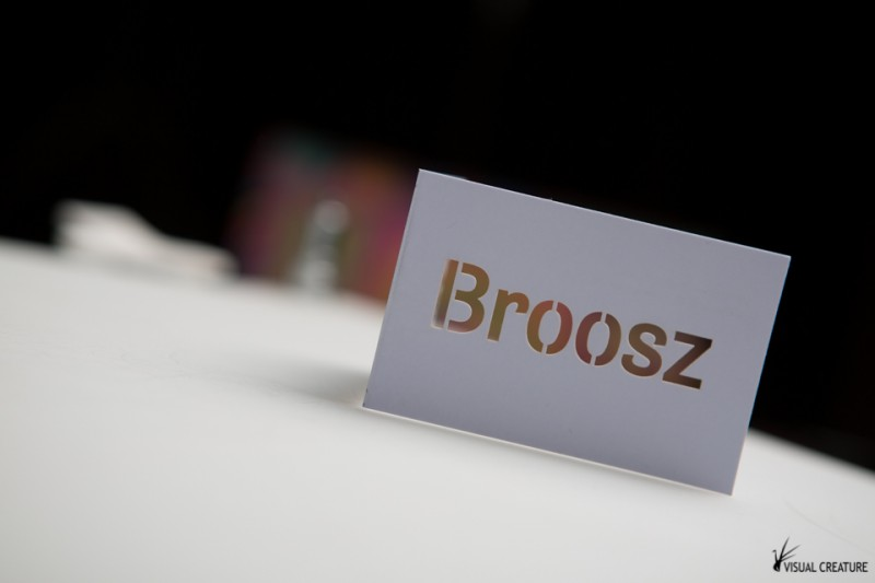Custom made business cards for Broosz