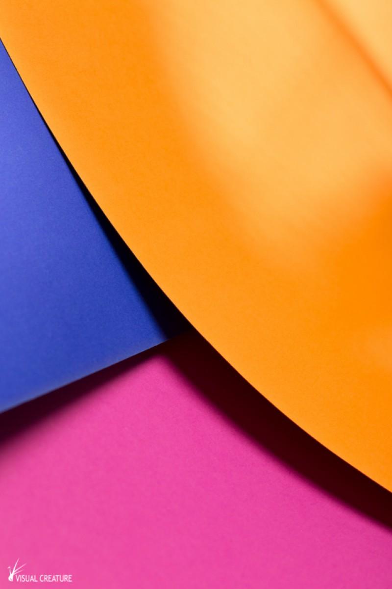 Orange, Blue & Pink