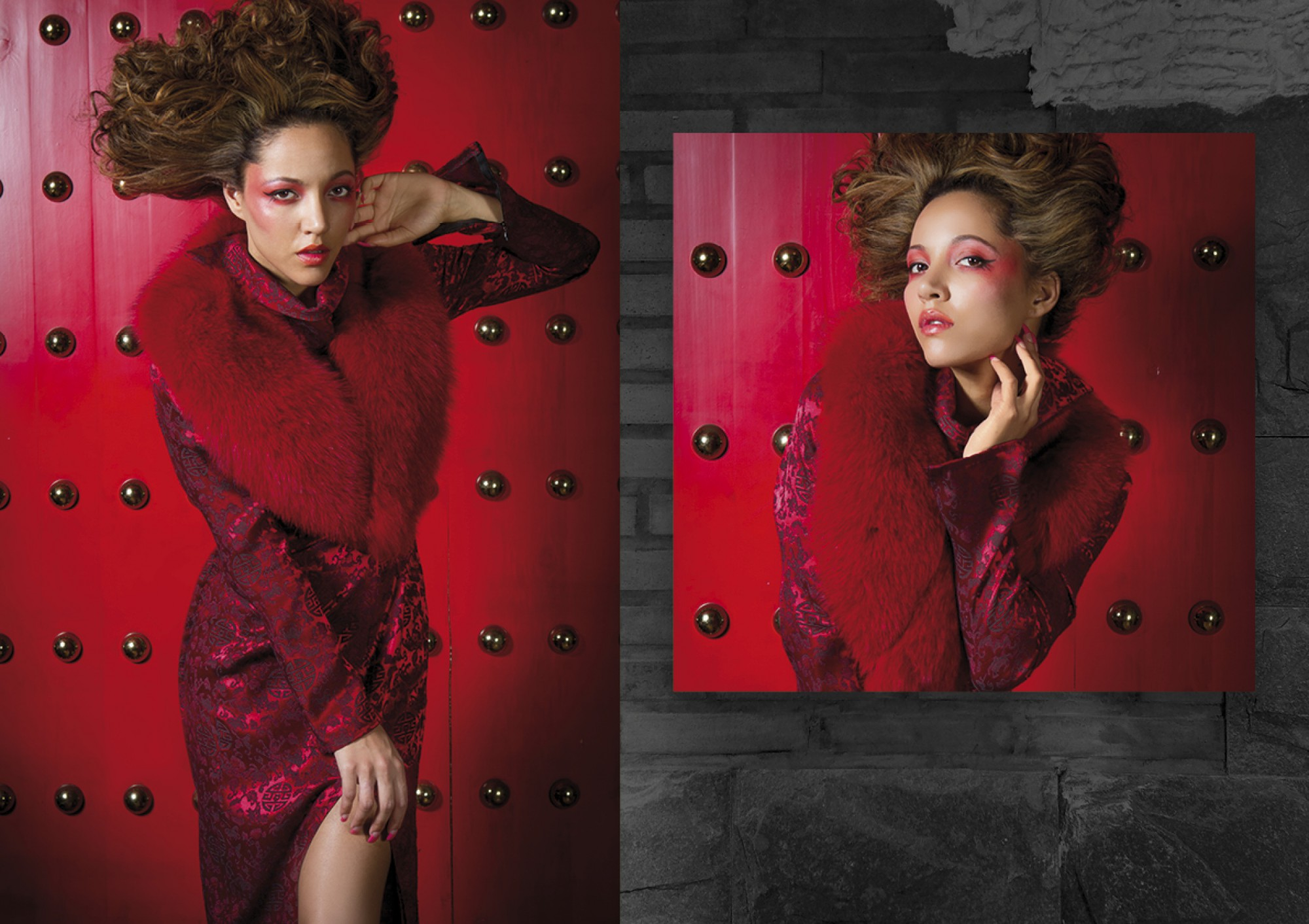 Fashion editorial 'Feminine Red'