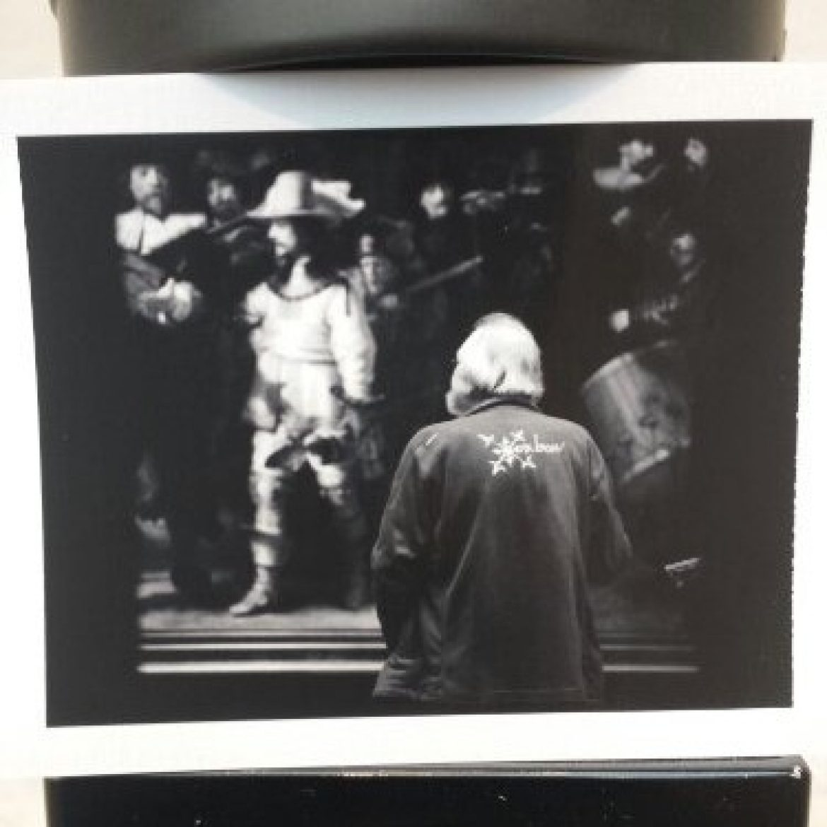 Today's Polaroid: Man viewing Rembrandt's Night Watch